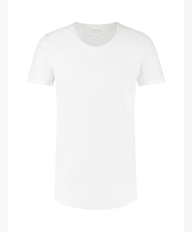 Pure White - Essential-tee-U-neck-SS-01-20333